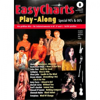 Easy charts play along - special 90's + 00's