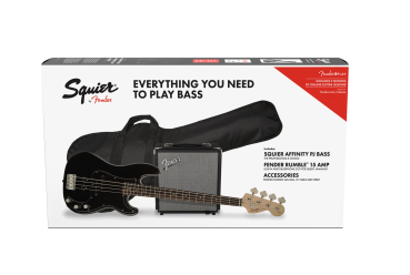 Fender Squier Affinity Series™ Precision Bass® PJ Pack , Schwarz