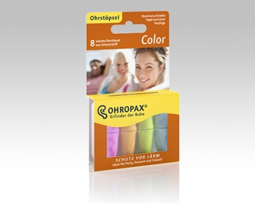 OHROPAX Color - 8 Ohrstöpsel in Dose