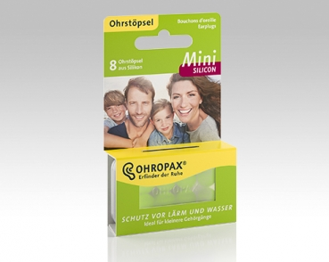 OHROPAX Mini Silicon - 8 Ohrstöpsel in Dose