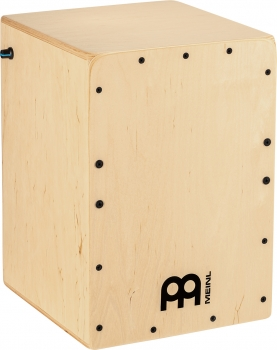 MEINL Percussion PJC50B Pickup Jam Cajon with Snares, Natural