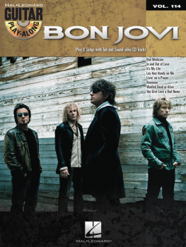 Bon Jovi (+CD) : Guitar Playalong Vol.114 Songbook Vocal/Guitar/Tab