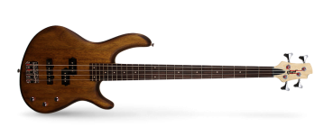 Cort E-Bass Action PJ, Open Pore Walnut