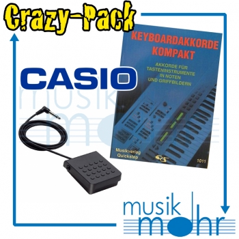 Musik Mohr Crazy-Pack CP06 Keyboard Akkorde Kompakt + Casio Pedal SP-3