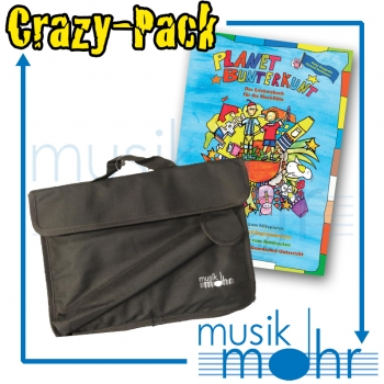 Musik Mohr Crazy-Pack CP11 Musik Mohr Blockflöten-/Notentasche + Noten Planet Bunterkunt+CD