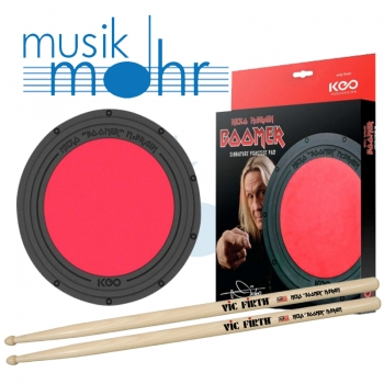 "KEO Nicko ""BOOMER"" McBRIAN Pad Set inkl. Vic Firth Sticks"