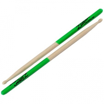ZILDJIAN Drum Sticks, Maple Serie, 5A Dip, natur, Dip grün