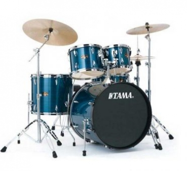 "Tama Rhythm Mate 22"" Hairline Blue Drumset"
