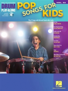 Pop Songs for Kids Schlagzeug Buch + Online-Audio