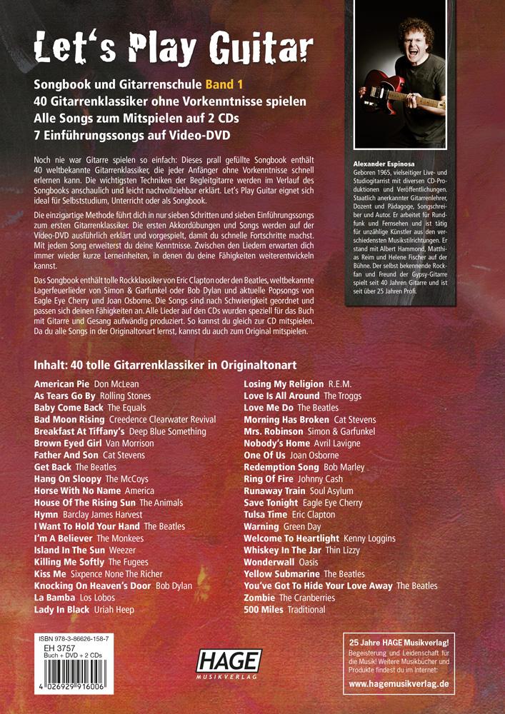 lets play guitar band 2 mit 2 cds und dvd songbook und gitarrenschule