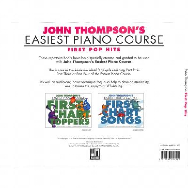 Easiest piano course - first Pop hits