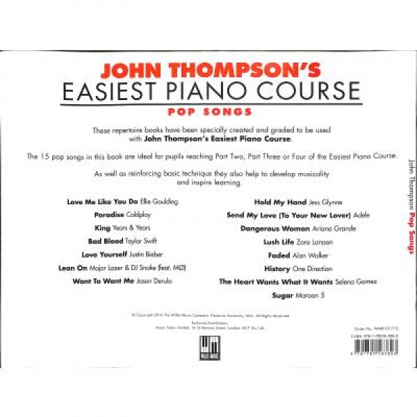 Easiest Piano course - Pop songs