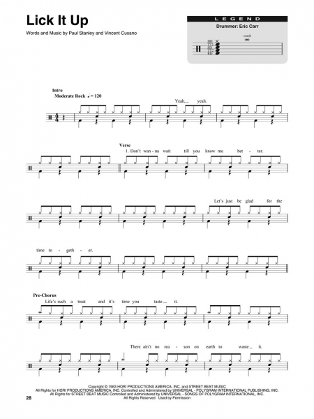 Kiss Drum Play-Along Volume 39