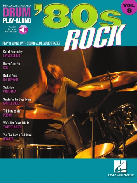 '80s Rock Drum Play-Along Volume 8