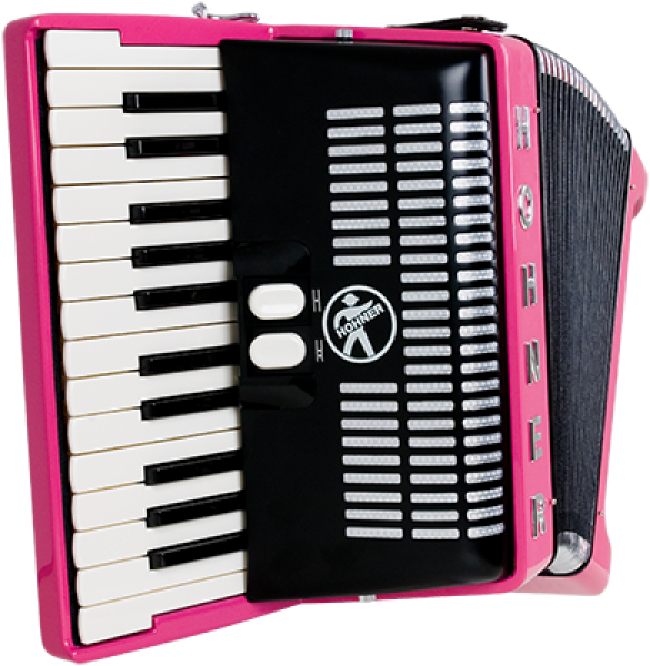 HOHNER Akkordeon, Bravo II 48, pink, customized